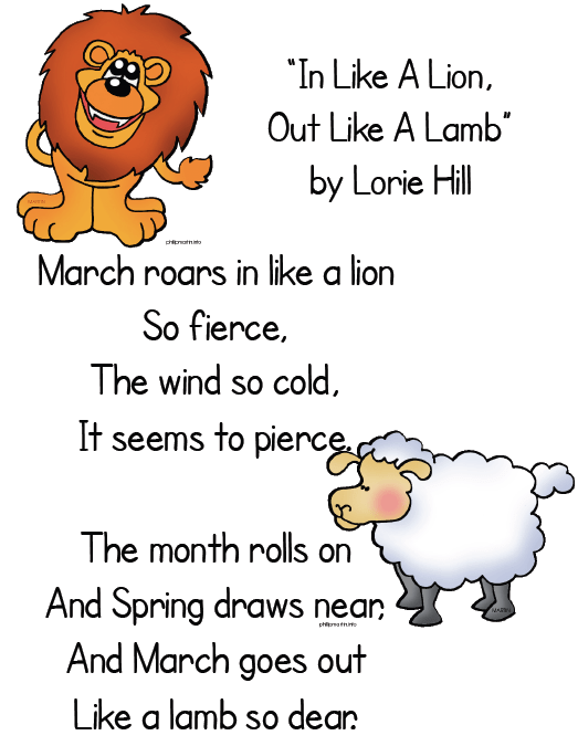 In like a lion out like a lamb clipart 5 » Clipart Portal.