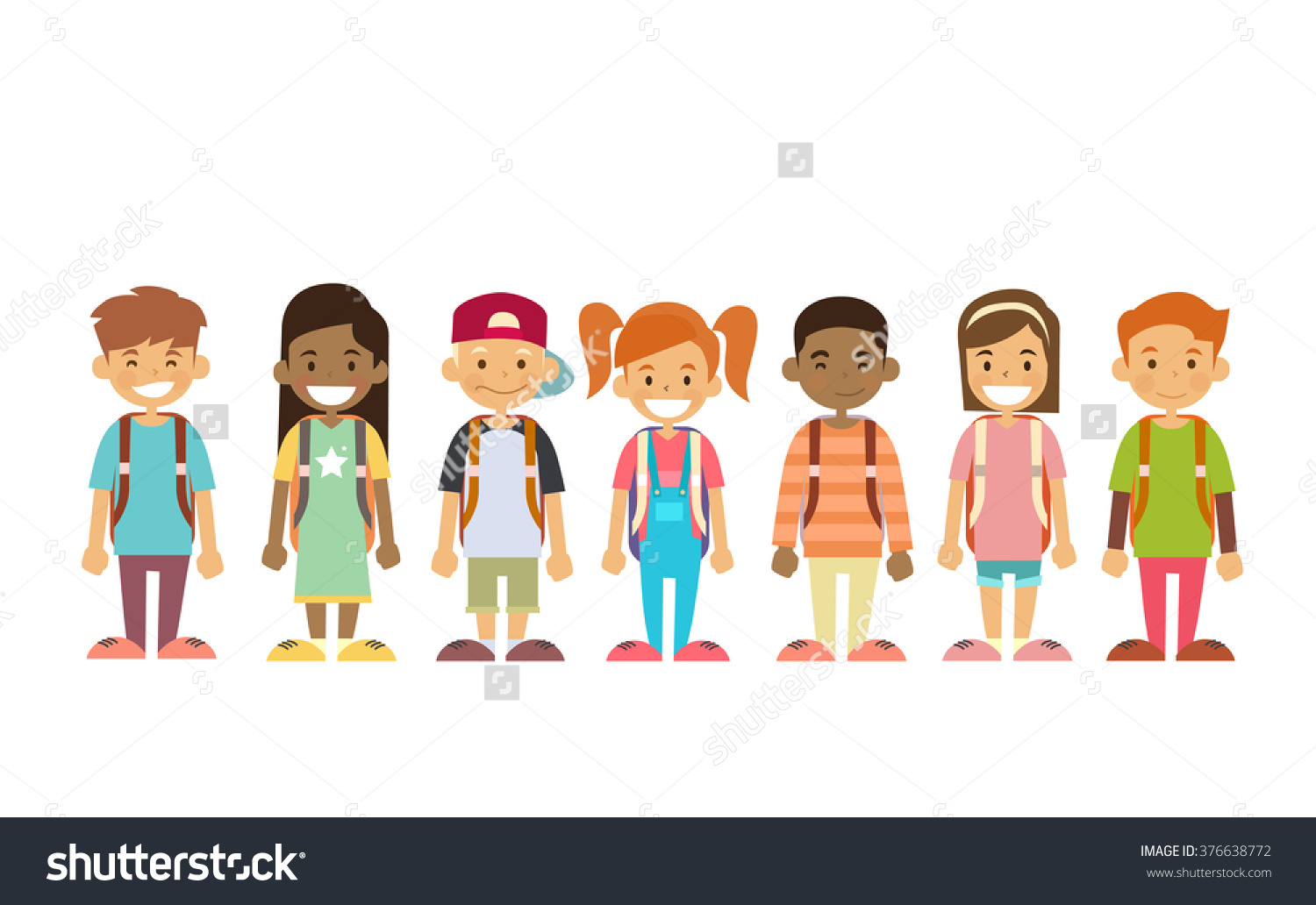 clipart kids in line - Clipground