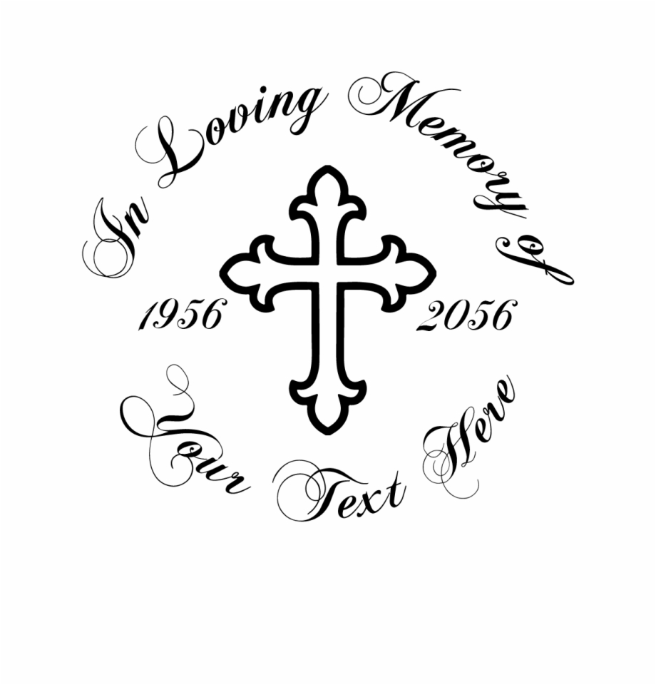 In Loving Memory Cross Decal Style Paschal Candle.