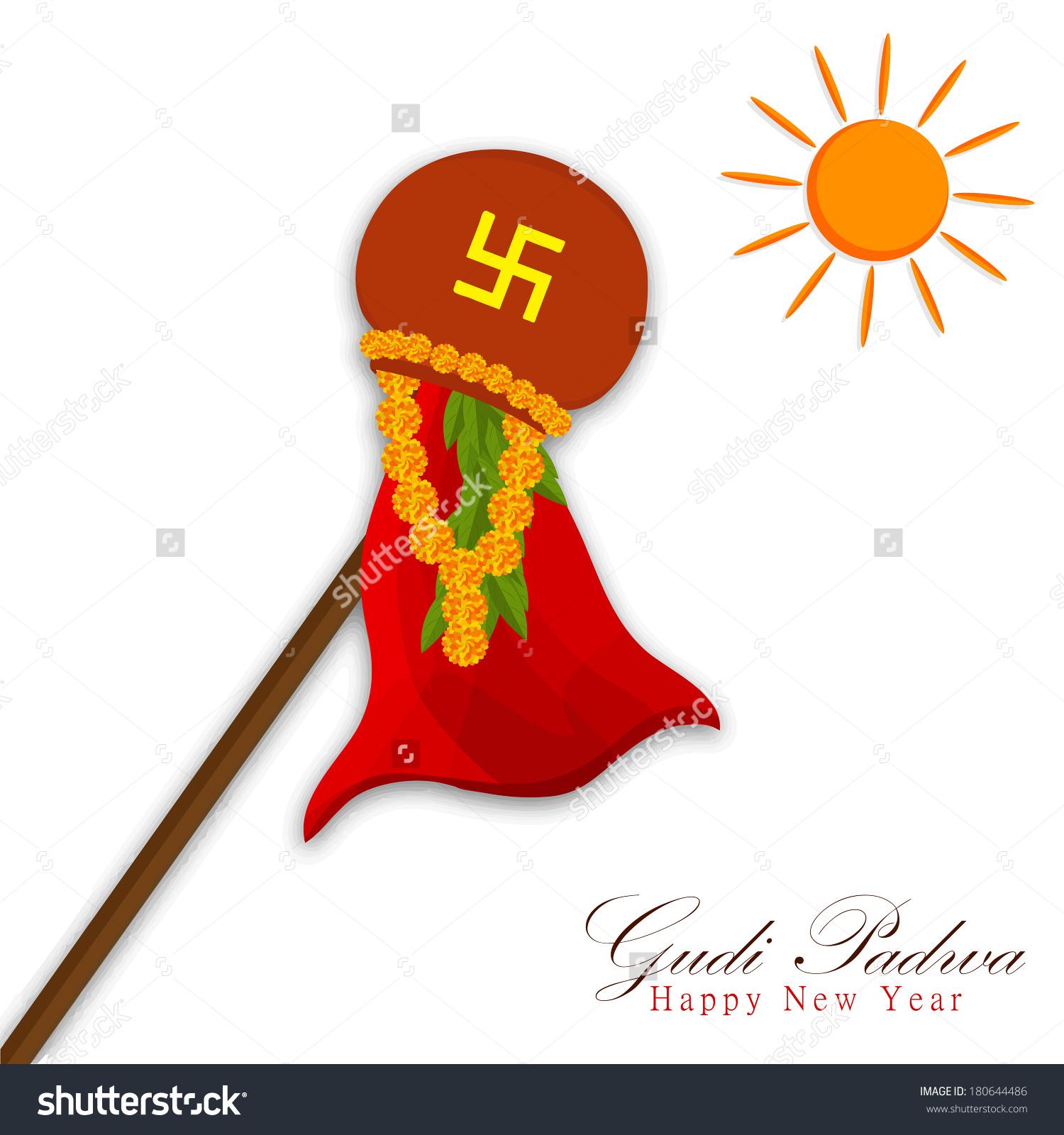 Gudi padva marathi clipart.
