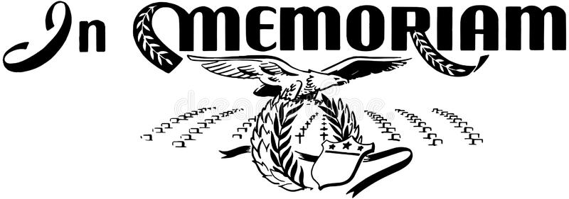 Memoriam Stock Illustrations.