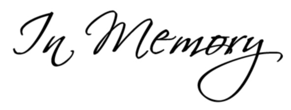 In Memory Clip Art.