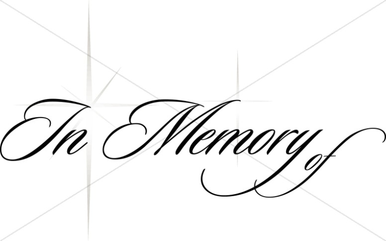 Church Memorial Clipart, Memorial Service Clip Art.