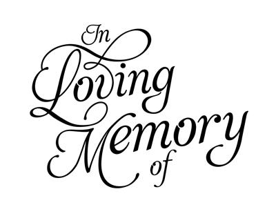 In Loving Memory Clipart.