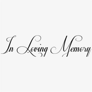 PNG In Loving Memory Cliparts & Cartoons Free Download.