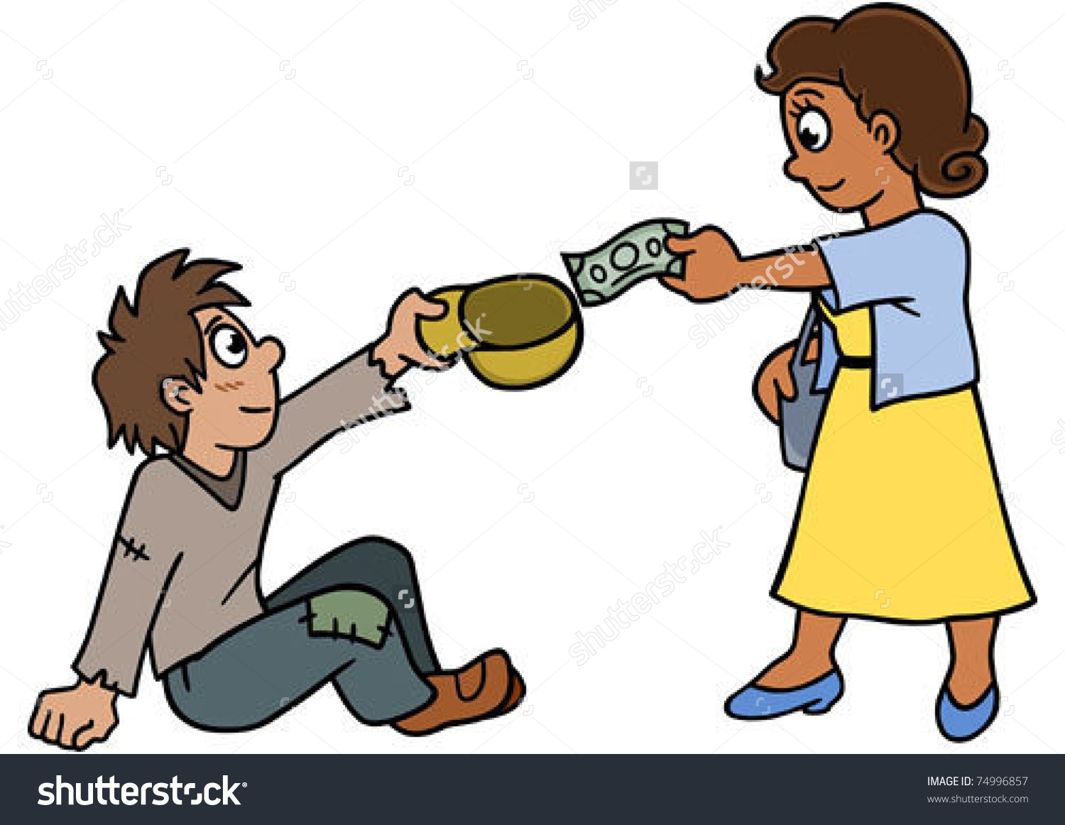 Children poverty clipart