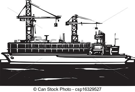 Container port clipart.