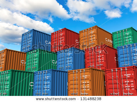 Container Ship Stock Photos, Royalty.