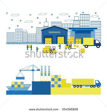 Cargo Port Stock Photos, Royalty.