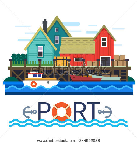 Fishing Port Stock Images, Royalty.
