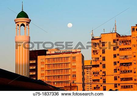 Stock Images of portuguese colonial architecture, port area.
