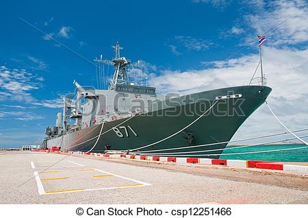 Stock Image of Warship.