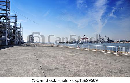 Stock Photography of Tempozan harborland port area during the day.