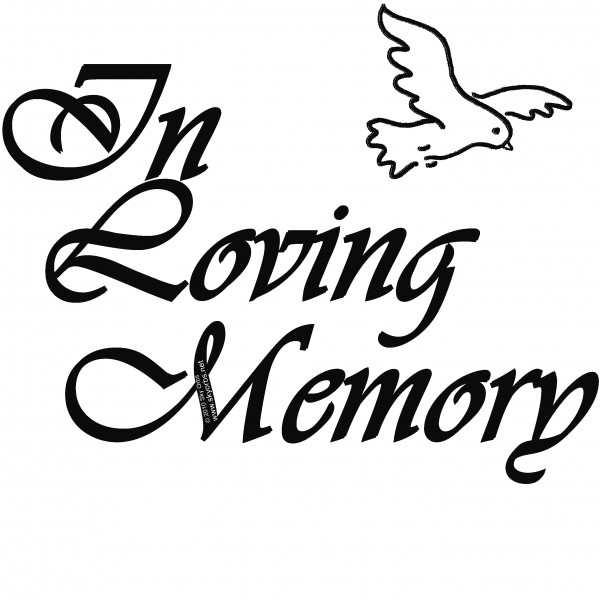 Collection of Loving memory clipart.