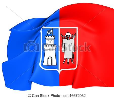 Stock Illustration of Flag of Rostov.