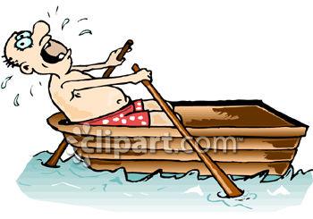 Row Boat Cartoon Clipart.