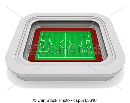 Stock Illustration of Football stadium.