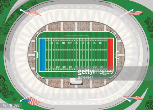 Stade De Football Américain Clipart vectoriel.
