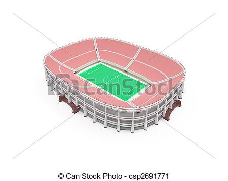 Clipart de sur, blanc, stade.
