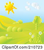Afternoon Sun Clipart 3d Afternoon Sun Setting Over #cnzYzV.