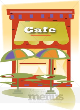 Outdoor Cafe Clipart.