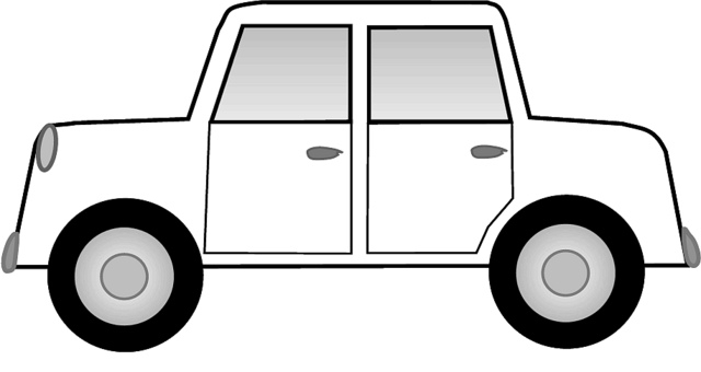 in the car black and white clipart - Clipground