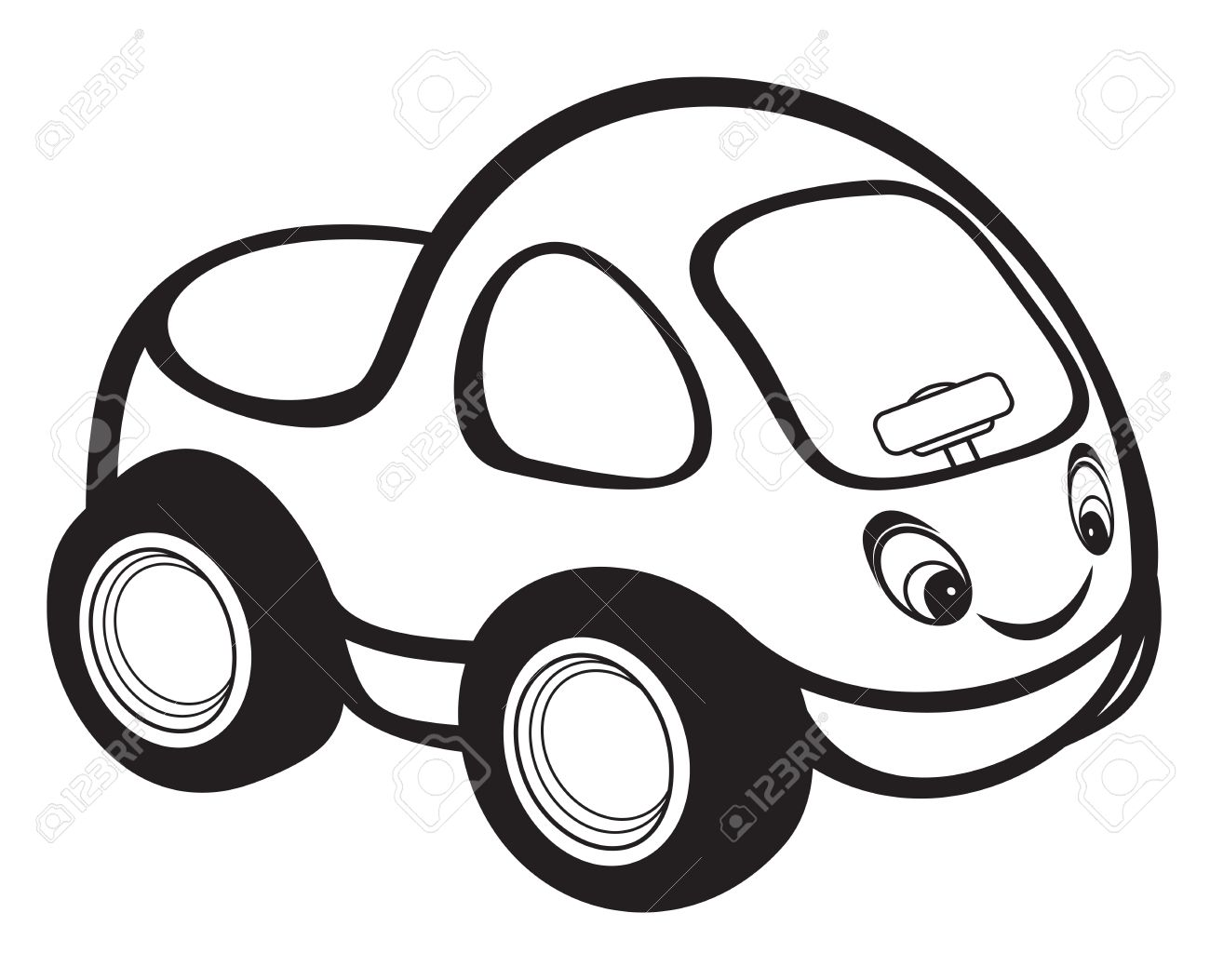 Clipart Car Black And White Royalty Free.
