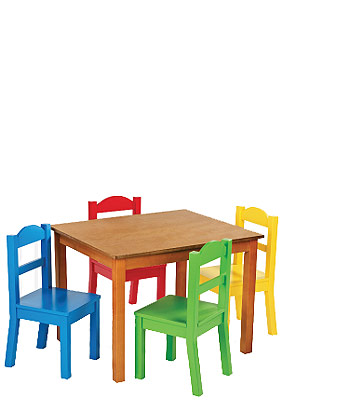 Chair and table clipart.
