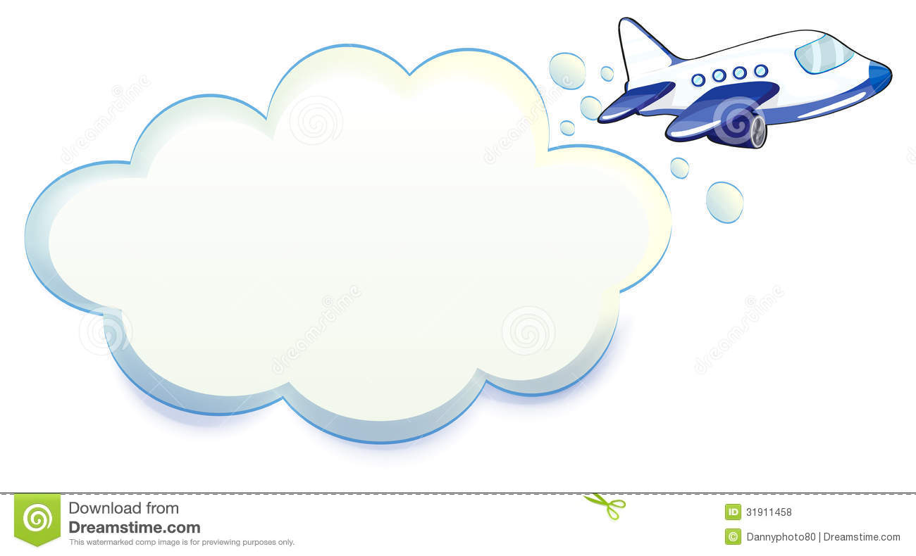 Images of plane in clouds clipart.