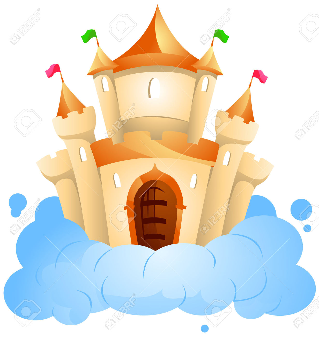 Castle in the Clouds Clip Art.