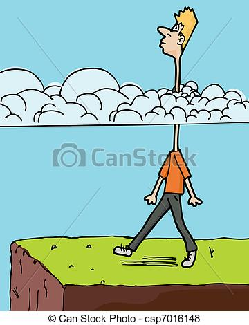 Head In The Clouds Clipart.