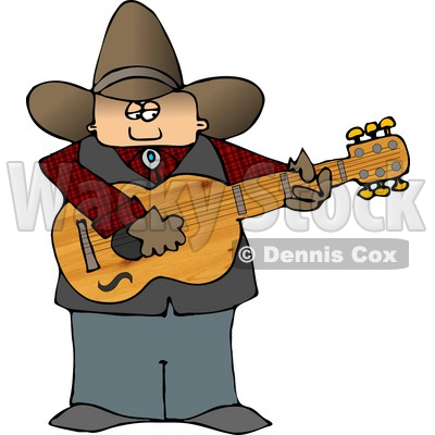 Boy in the country clipart.