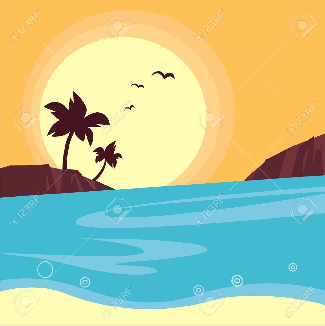 Hawaiian Beach Clip Art.