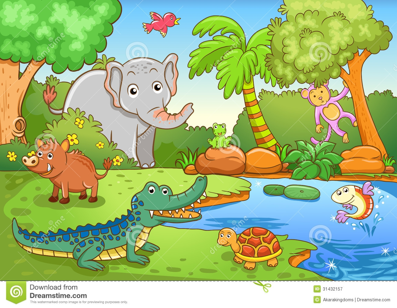 Animal In The Forest Clipart.
