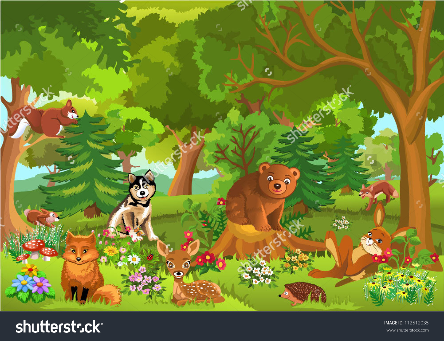 Cute Forest Clipart.