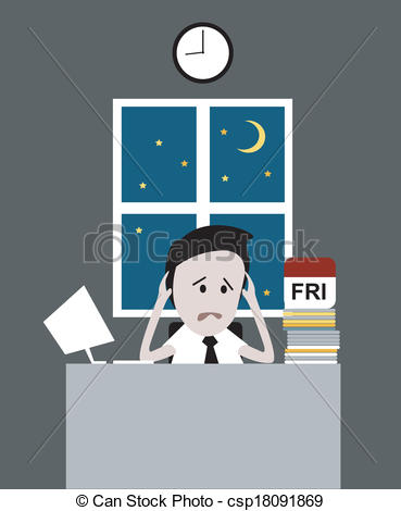 Work late clipart.
