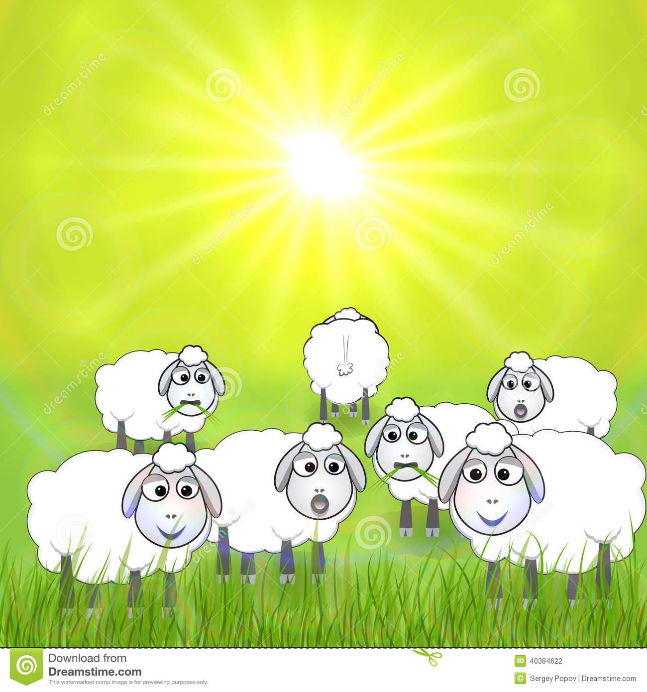 Similiar Meadow With Sheep Clip Art Keywords.