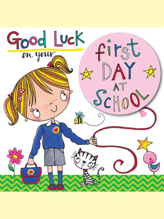 Funny Good Luck On First Day Of Middle School Clipart.