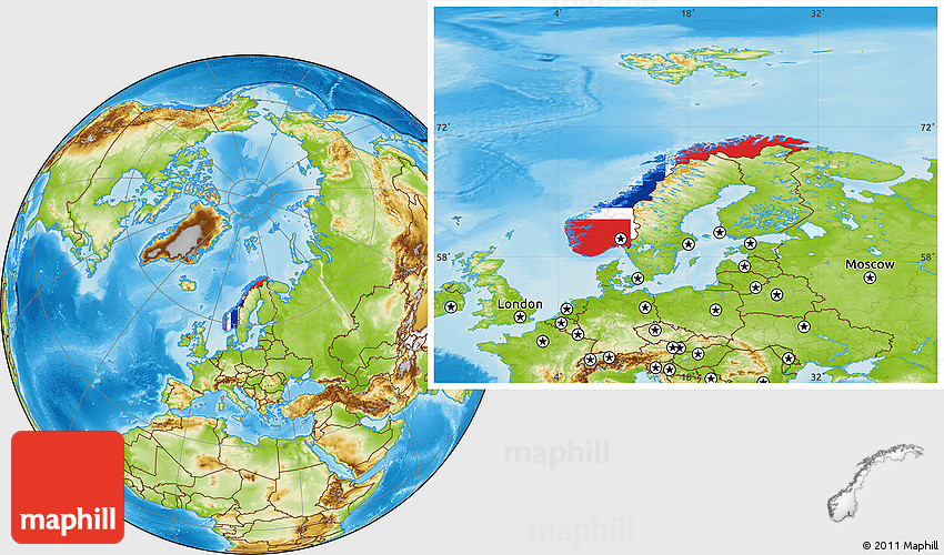 Norway map clipart.