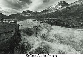 Stock Photography of Northern Norway Coastline.