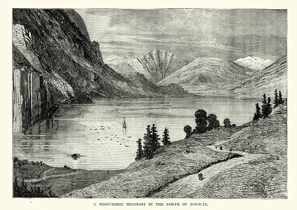 Norway Fjord Clip Art, Vector Images & Illustrations.
