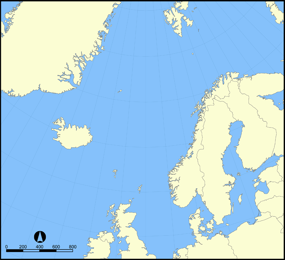 Outline Map Of Norway.
