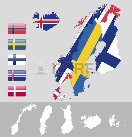 In The North Of Norway Clipart Clipground - Norway map clipart