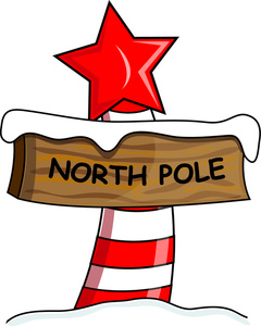 Free North Pole Postmark Clip Art.