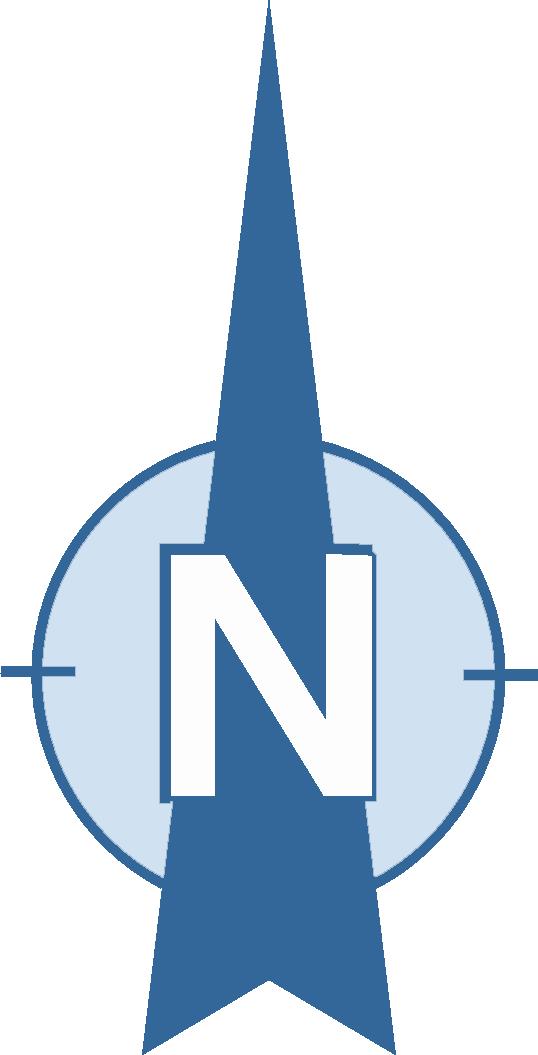 North symbol clip art.