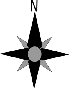 North symbol clip art.