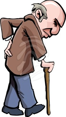 Old man with candy clipart.