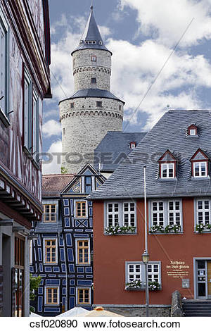 Stock Photography of Germany, Hesse, Idstein, Old town hall.