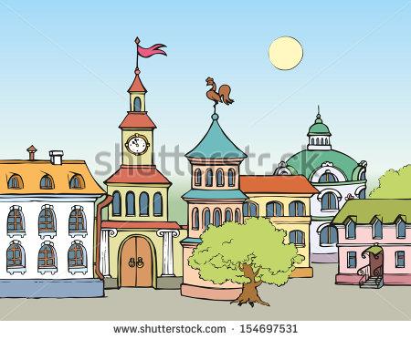 Old Town Hall Stock Vectors, Images & Vector Art.