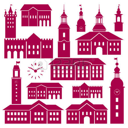437 Old Town Hall Stock Vector Illustration And Royalty Free Old.